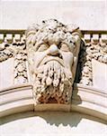 Dublin, Co Dublin, Ireland, Custom House, architectural detail of River Gods of Ireland