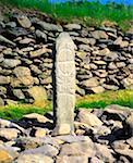 Cross Pillar, Gallarus Oratory, Dingle Peninsula, Co Kerry, Ireland