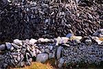 Îles d'Aran, Co Galway, Irlande, murs en pierre apparente