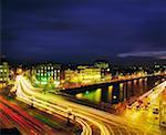 La ville de Dublin, Custom House nuit