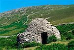 Celtic Archaeology, Beehive Hut Near Ventry, Islea Head Dingle