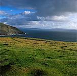 Ogham Stone, Dunmore tête, Dingle péninsule, Co Kerry, Irlande