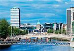 Millennium Bridge, River Liffey, Dublin, Co Dublin, Ireland