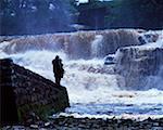 Salmon Fishing, Ballisodare River Co. Sligo, Irlande