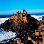 Touristes, la chaussée des géants, Co Antrim, Irlande