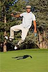 Golfspieler auf Heels, Salem, Oregon, USA
