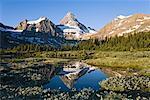 Parc Provincial du Mont Assiniboine en Colombie-Britannique, Canada