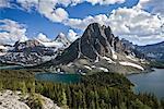 Vue du Mont Assiniboine Nub Ridge, Parc Provincial du Mont Assiniboine, en Colombie-Britannique Canada