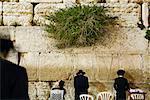 Mitarbeiter an der Klagemauer, Jerusalem, Israel