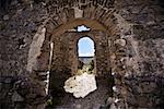 Old ruins of a building, Real De Catorce, San Luis Potosi, Mexico