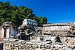 Old ruins of a temple, Templo De los Inscripciones, Palenque, Chiapas, Mexico