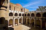 Arcade of a church, Cuilapan Monastery, Oaxaca, Oaxaca State, Mexico