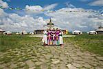 Group of Employees at the Xiri Tala Grassland Holiday Resort, Inner Mongolia, China