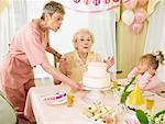 Woman Celebrating Birthday in Seniors' Residence
