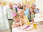 Birthday Celebration in Senior's Home