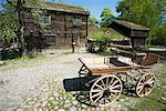 House and Carriage at Skansen, Djurgarden, Stockholm, Sweden