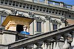 La garde au Palais de Stockholm, Stadsholmen, Gamla Stan, Stockholm, Suède