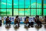 Commuters at Seoul Station, Seoul, South Korea
