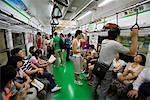 People on Subway, Seoul, South Korea