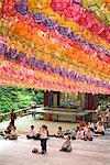 Worshippers at Buddhist Temple, Bukhansan, Seoul, South Korea