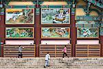 People Walking in Front of Bongeunsa Temple, Seoul, South Korea