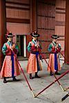 Palais Deoksugung, des gardes, Séoul, Corée du Sud