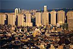 Overview of City, Seoul, South Korea