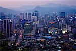Vue d'ensemble de la ville, Séoul, Corée du Sud
