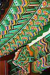 Ornate Awning of Building, Changdeokgung, Seoul, South Korea