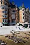 Toboggans by Chateau Frontenac, Quebec City, Quebec, Canada