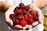 Man Holding Cherries