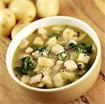 Huhn und Spinat Suppe