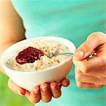 Porridge and jam