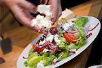 Adding cheese to Mixed Salad / step shot