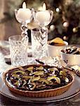 chocolate and citrus peel tart