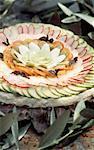 Raw vegetable tart