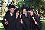 College Graduates Cheering