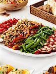 Assiette de nourriture sur la Table du dîner