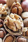 Nahaufnahme assortierte Nüsse