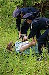 Police Officers Arresting Suspect