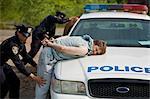 Agents de police, arrestation de Suspects