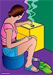 Illustration de Cigarette Smoking femme