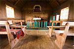 Interior of Church, Krysuvik, Iceland
