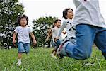 Children enjoying in a park