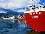 Polynésie française, îles de Tahiti, Papeete, le port