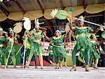 Granada, Saint George's, women dancing for the mardi gras parade for carnival