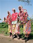 Grenade, Grande anse, des hommes déguisés en pierrots (nom local français) pendant le carnaval