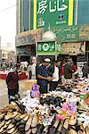 China, Xinjiang, kashgar, shoes on sale