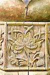 Chine, Xinjiang, kashgar, mosquée, détail sculpté en bois