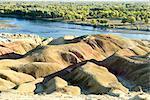 China, Xinjiang, Buerjin River, rocks of 5 colors